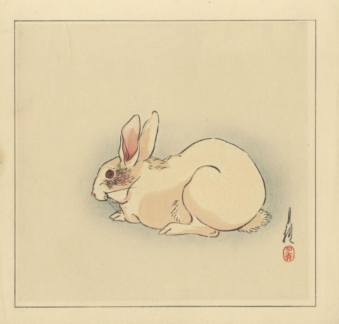 Gekko Ogata: Rabbit 1930 Woodblock