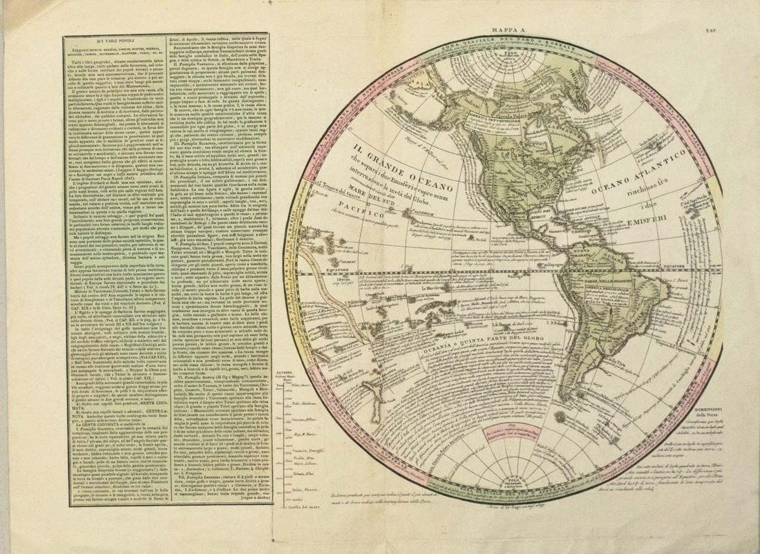 1830 Le Sage Map of the Western Hemisphere -- Mappa A