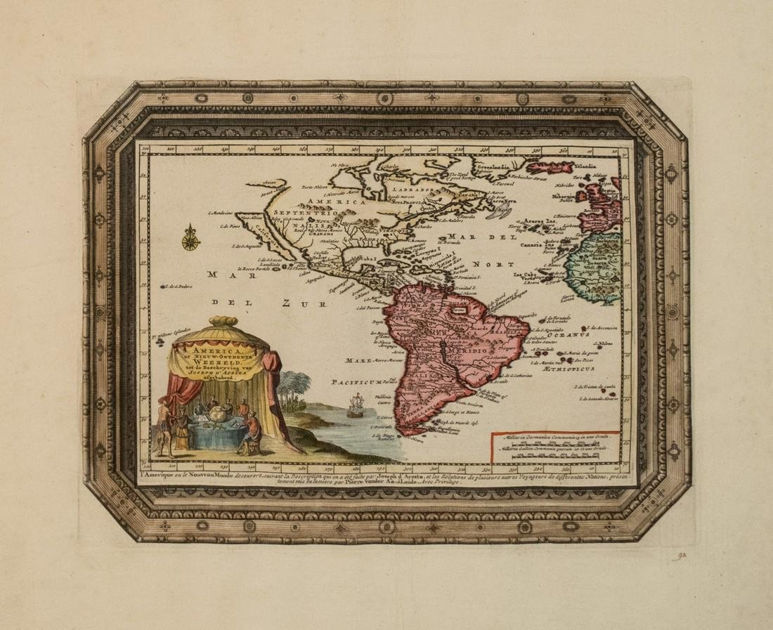 1706 Van der Aa Map of the Americas with California as
