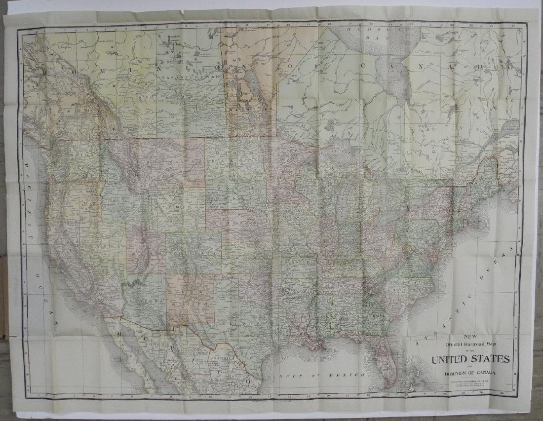 New Official Railroad Map of the United States and - 2