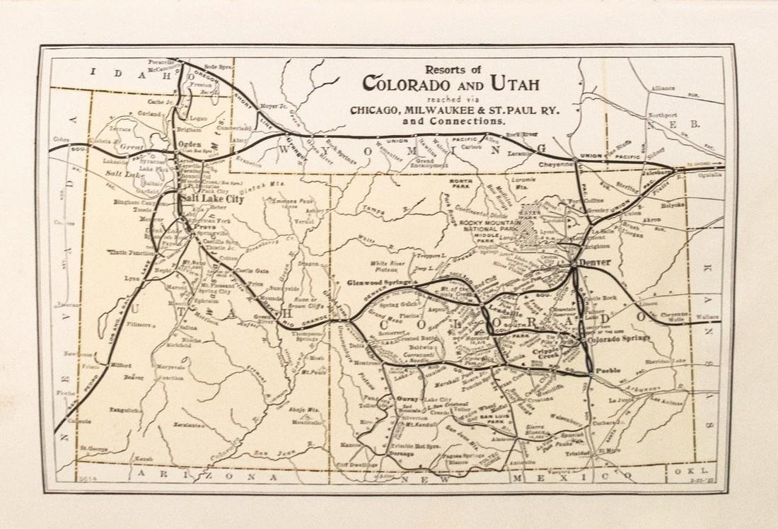1915 Map of the Chicago, Milwaukee & St. Paul Railway - 3