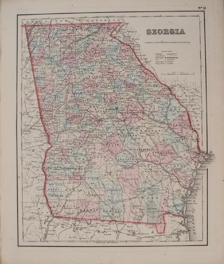 1855 Colton Map of Georgia -- Georgia