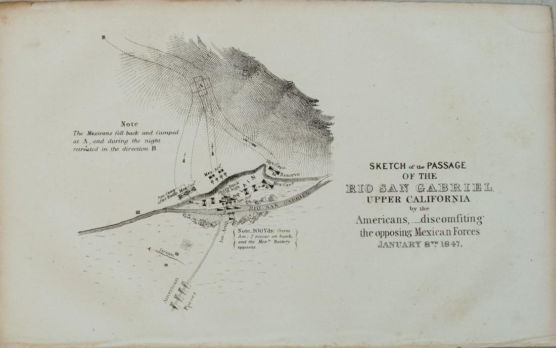 1848 Emory Battle Map from the Mexican-American War --