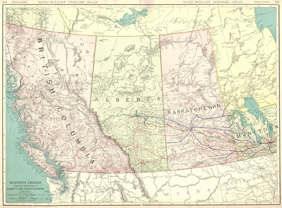Western Canada Showing Provinces of Alberta and