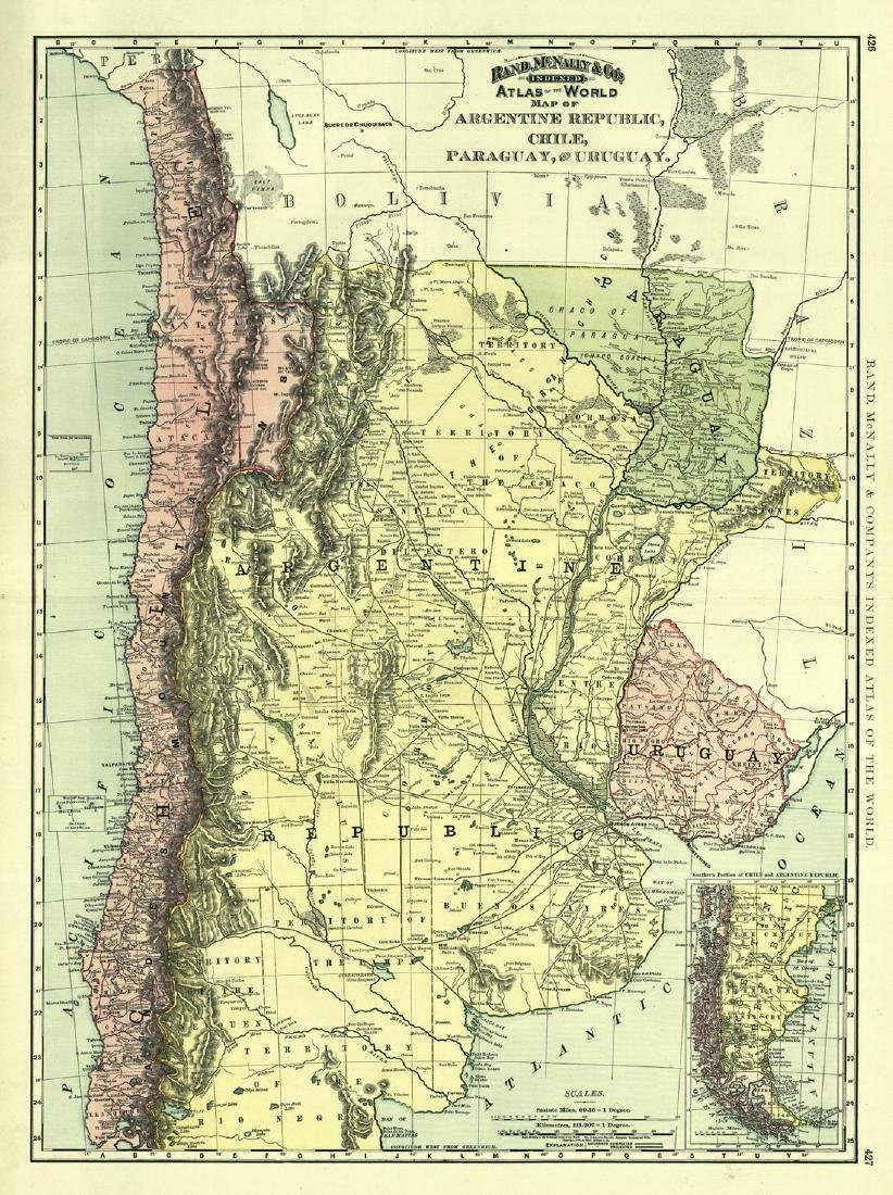 Rand, McNally & Co.'s Indexed Atlas of the World Map of