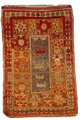 Handmade antique Turkish Anatolian rug 3' x 4.4' ( 94cm