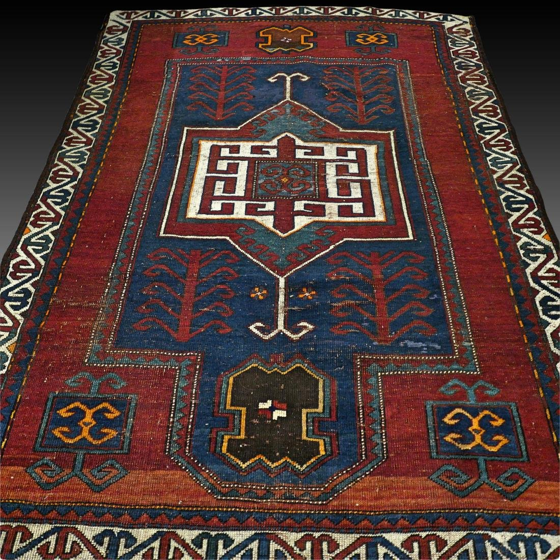 6.6 x 4.6 Caucasian Kazak rug - early 1900s -