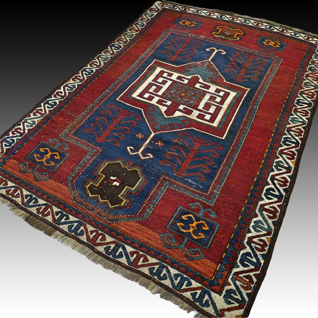 6.6 x 4.6 Caucasian Kazak rug - early 1900s - - 2