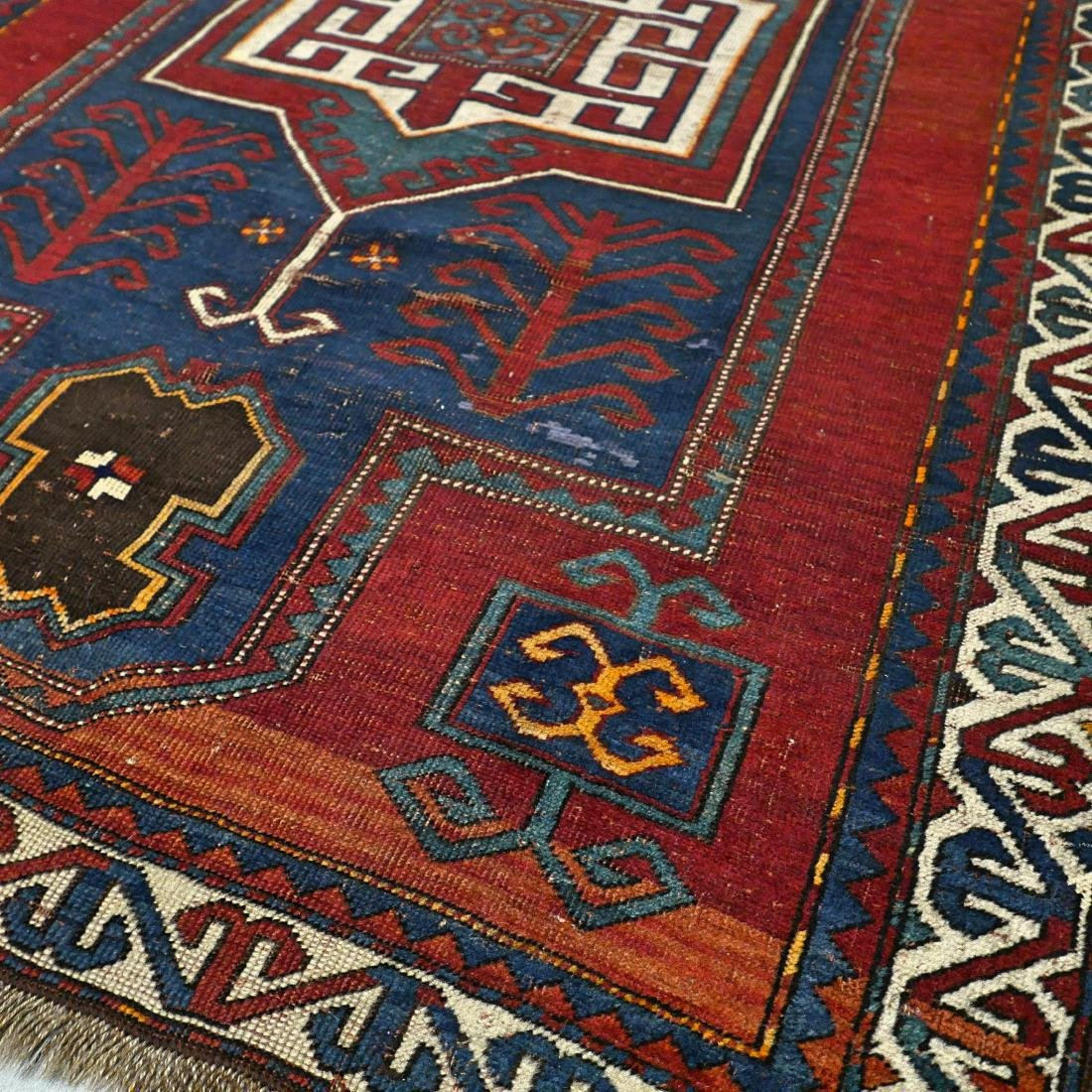 6.6 x 4.6 Caucasian Kazak rug - early 1900s - - 8