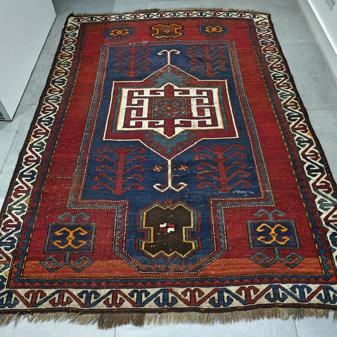 6.6 x 4.6 Caucasian Kazak rug - early 1900s - - 9