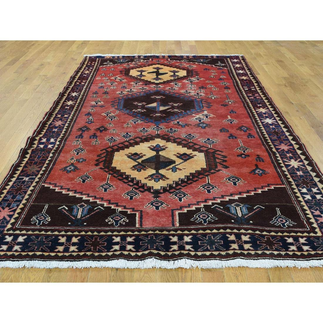 Semi Antique Persian Afshar Full Pile Mint Condition - 2