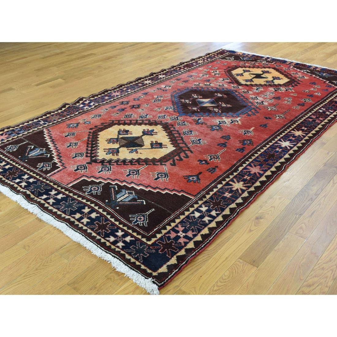 Semi Antique Persian Afshar Full Pile Mint Condition - 3