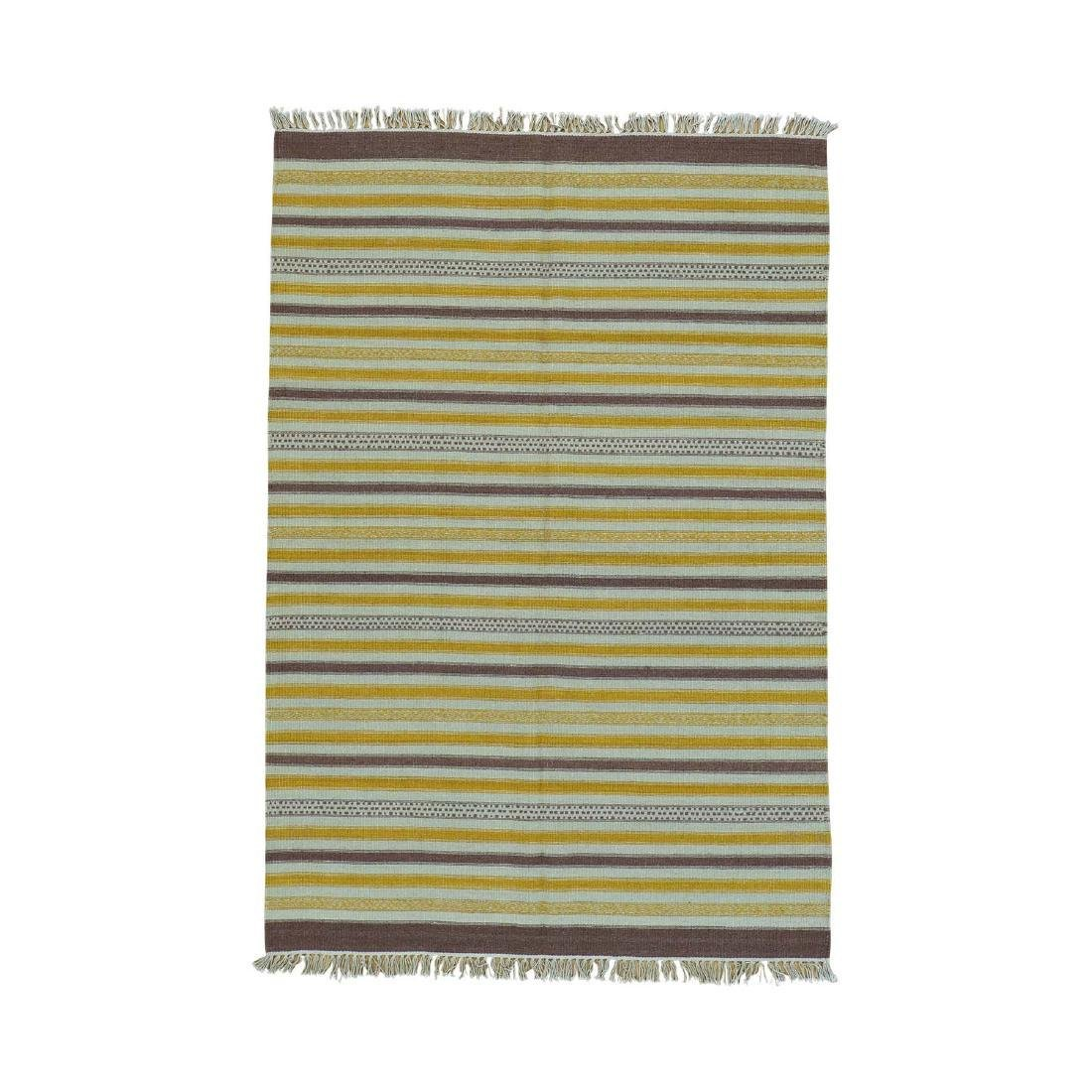 Durie Kilim Striped Flat Weave Reversible Pure Wool