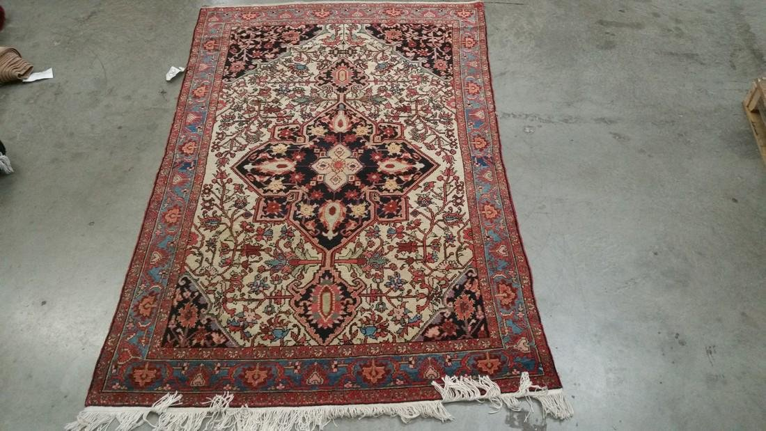 Persian Malayer Wool pile hand knotted on a cotton