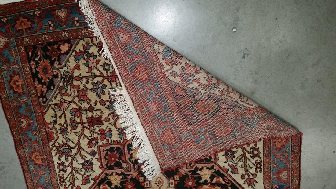 Persian Malayer Wool pile hand knotted on a cotton - 3
