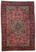 Handmade antique Persian Lilihan rug 6.7' x 10.5' (