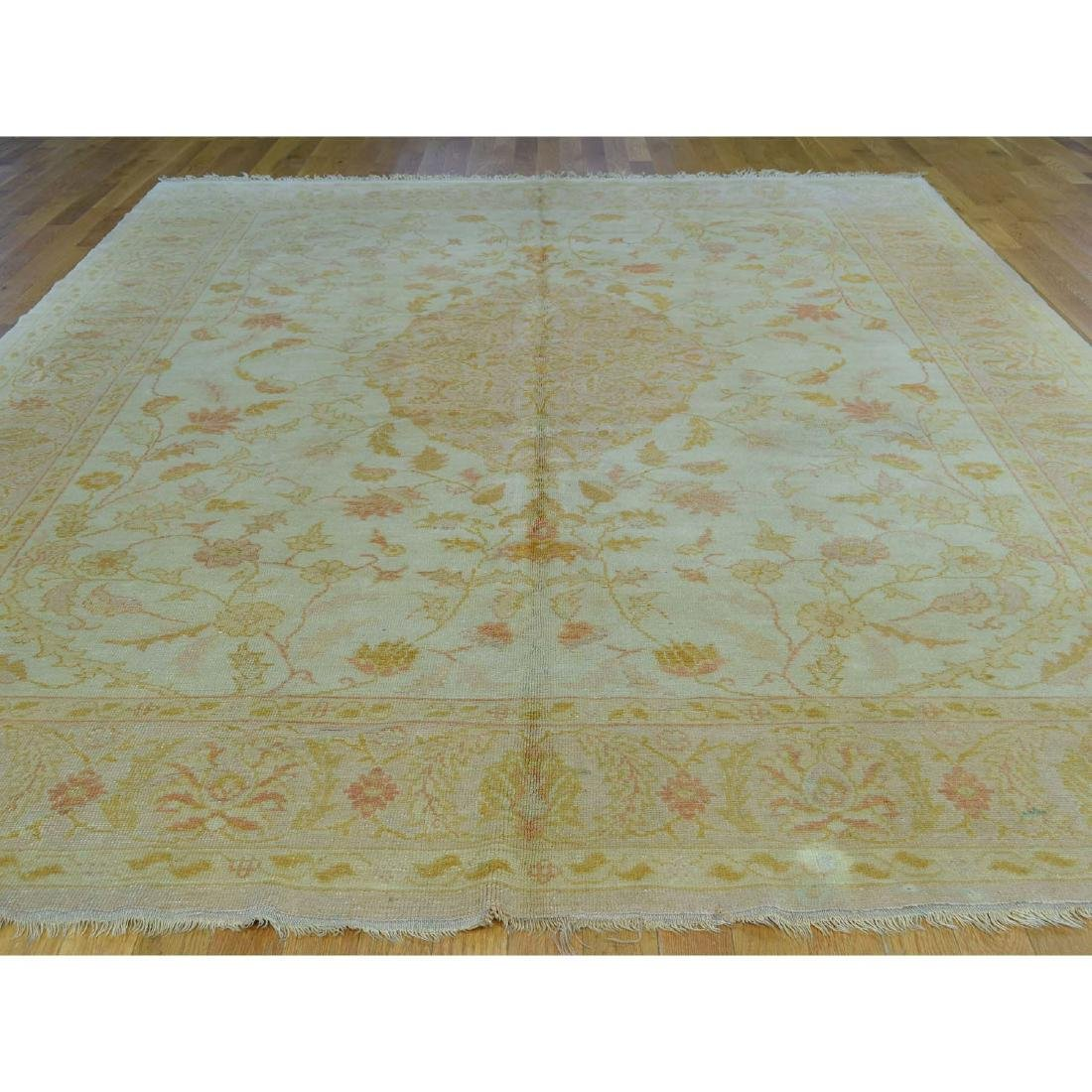 Hand-Knotted Antique Turkish Oushak Soft Colors - 2