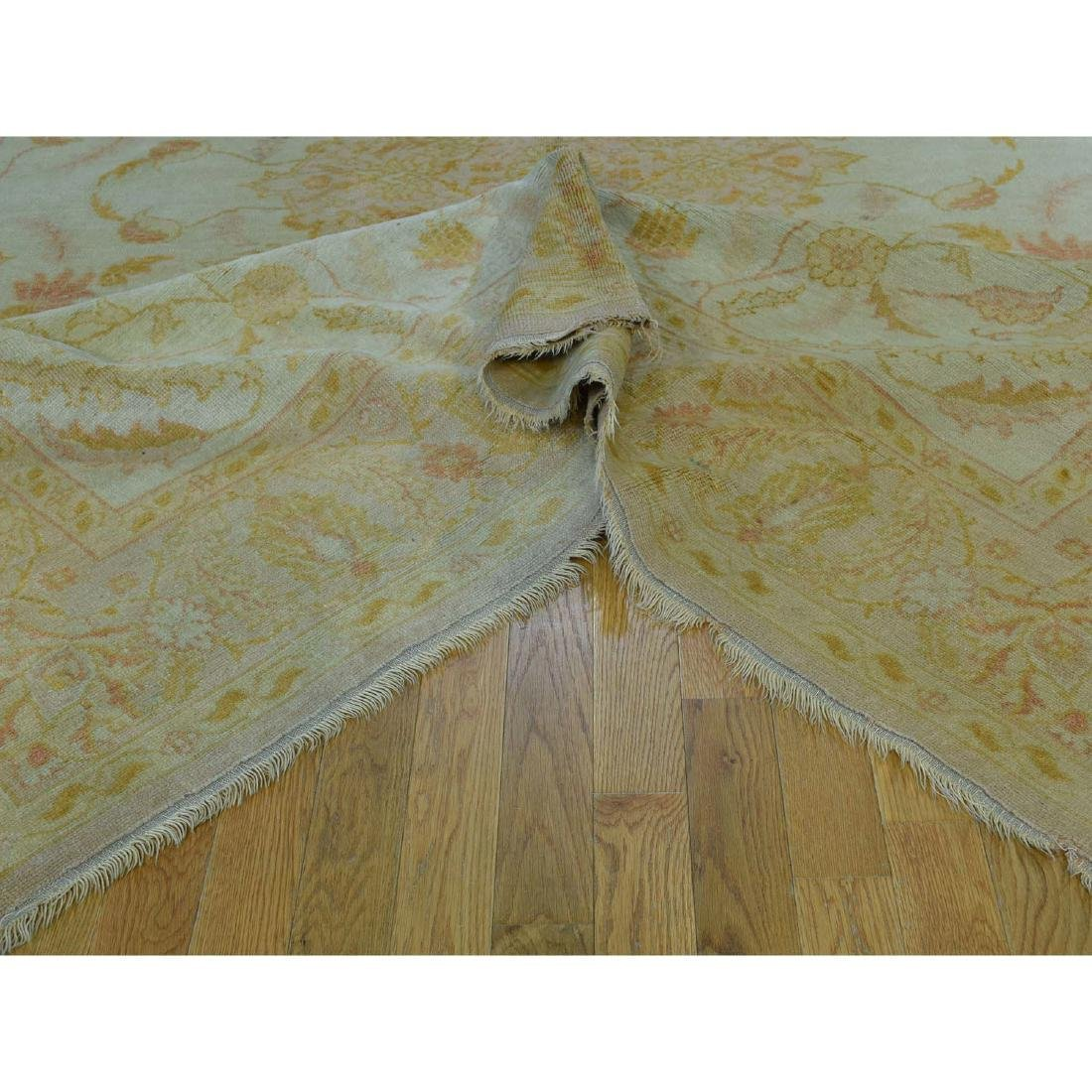 Hand-Knotted Antique Turkish Oushak Soft Colors - 6