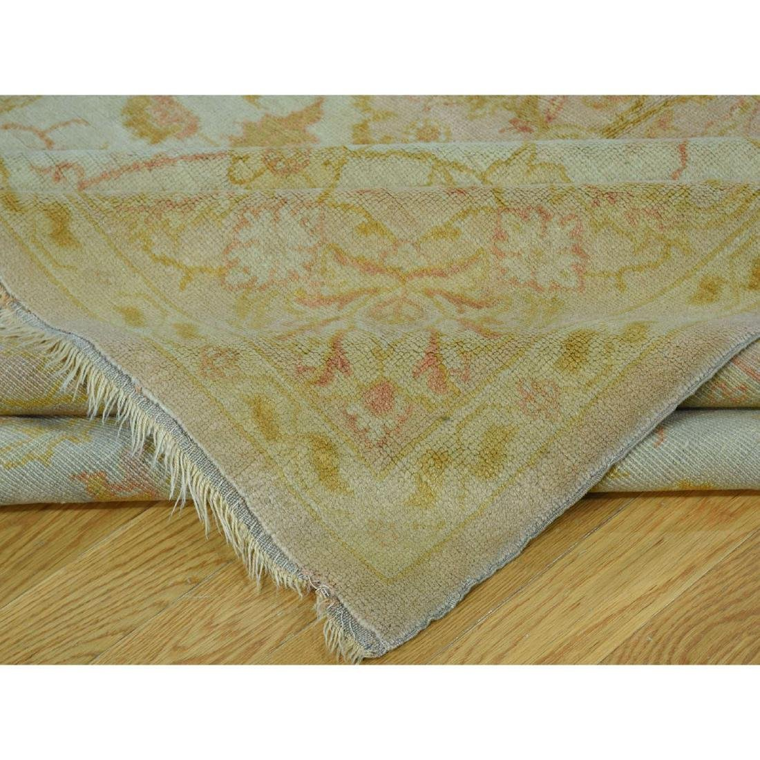 Hand-Knotted Antique Turkish Oushak Soft Colors - 7