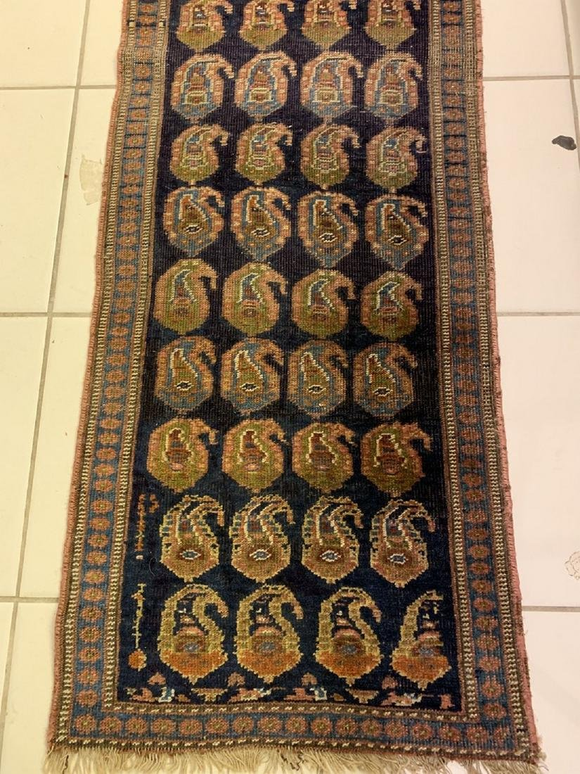 Semi Antique Hand Woven Persian Rug Kurdish 6.8x2.3