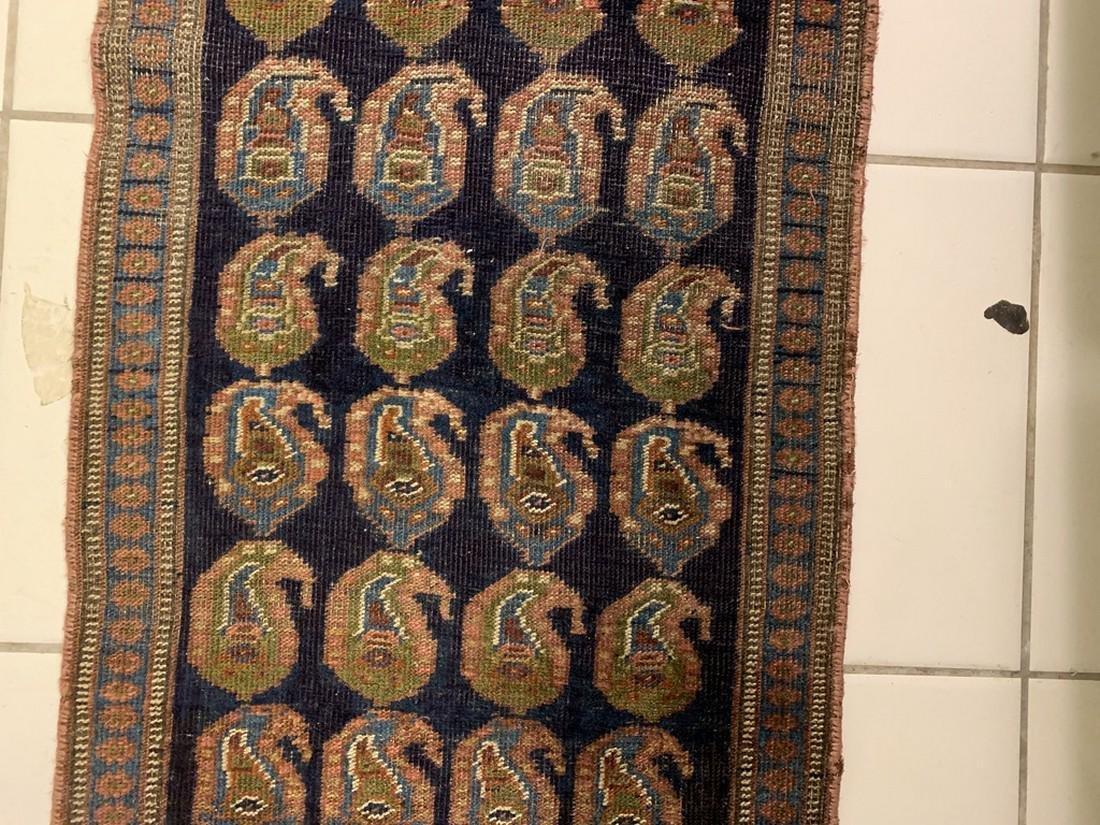 Semi Antique Hand Woven Persian Rug Kurdish 6.8x2.3 - 2