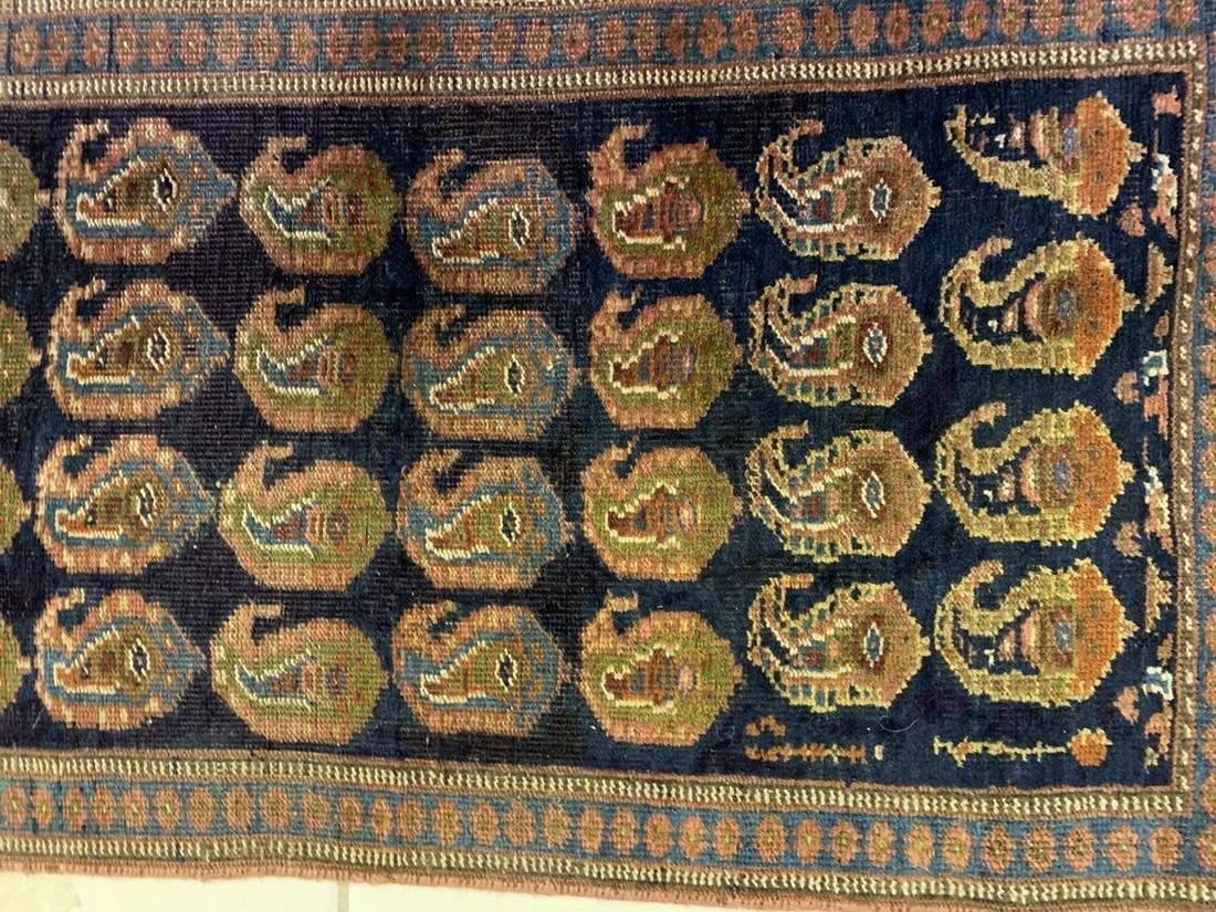 Semi Antique Hand Woven Persian Rug Kurdish 6.8x2.3 - 3