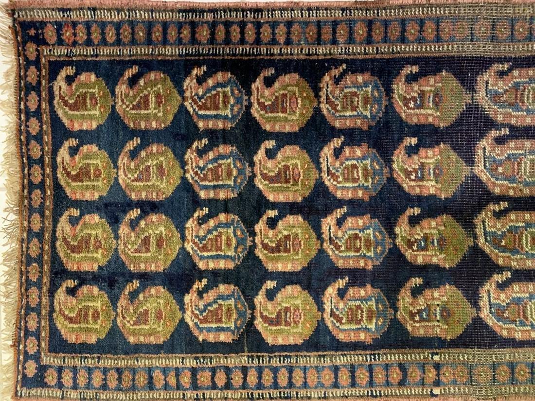 Semi Antique Hand Woven Persian Rug Kurdish 6.8x2.3 - 5