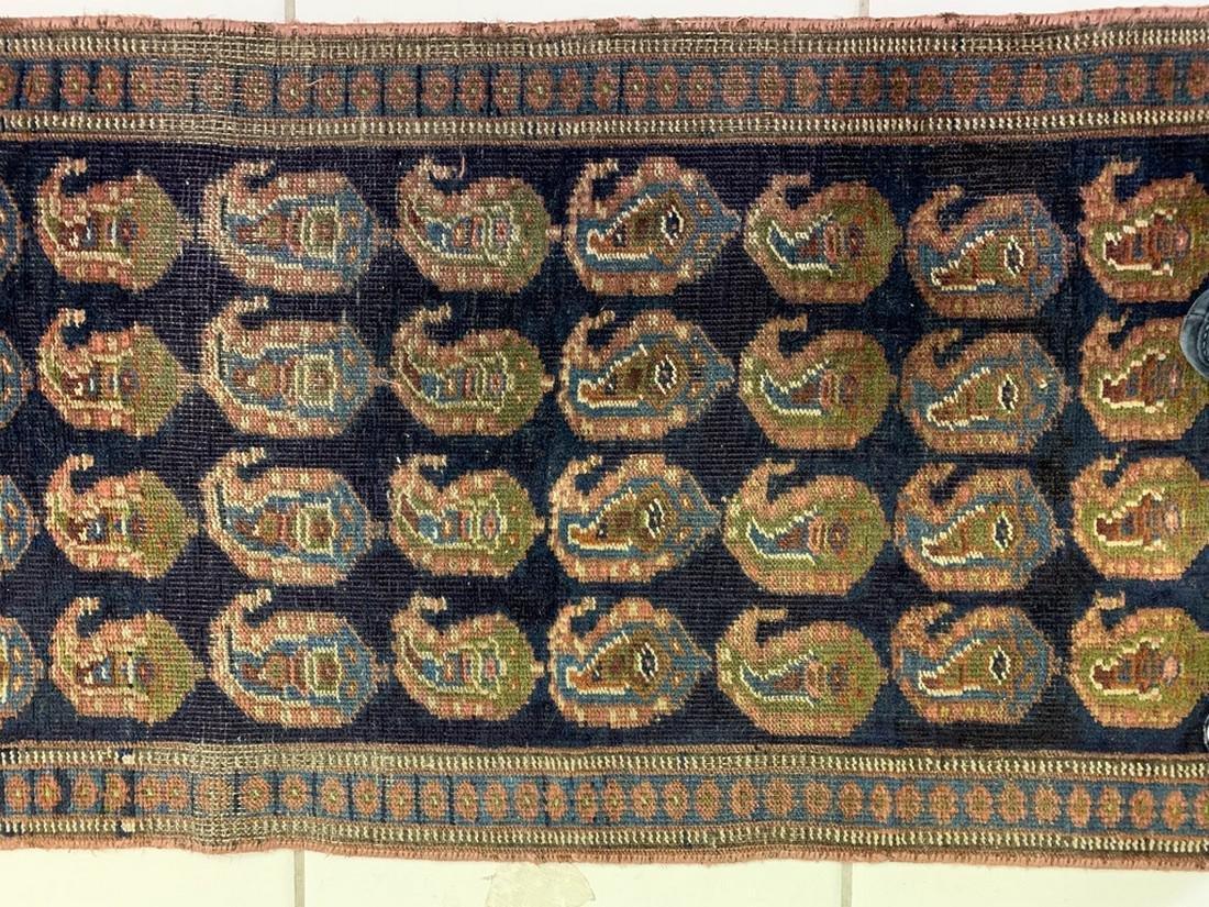 Semi Antique Hand Woven Persian Rug Kurdish 6.8x2.3 - 6