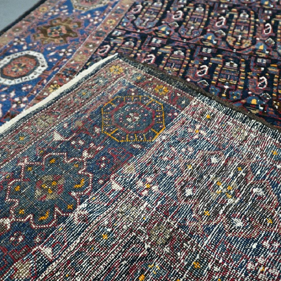 10.1x4.3 Antique Armenian boteh Kazak rug - 1880s - - 10