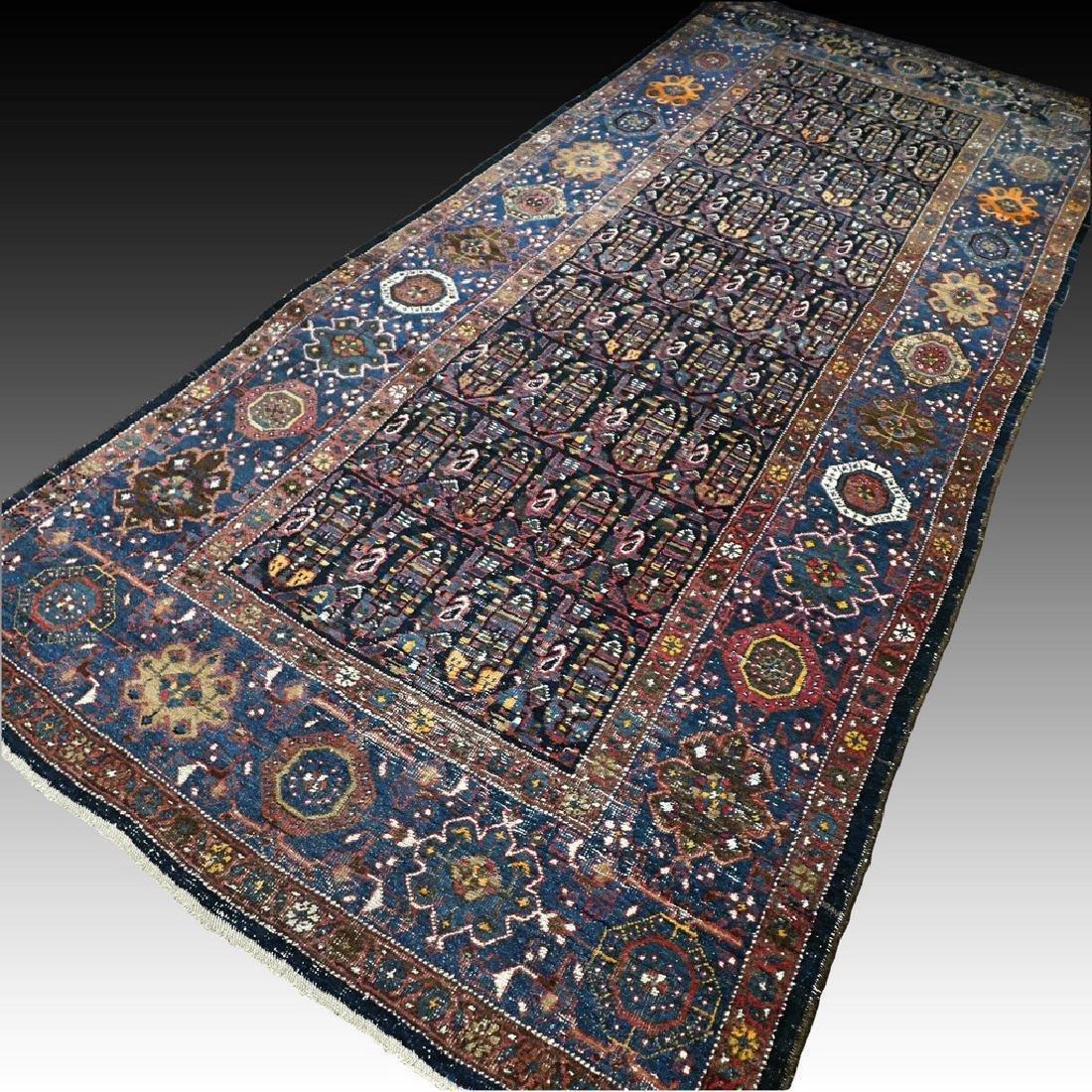 10.1x4.3 Antique Armenian boteh Kazak rug - 1880s -