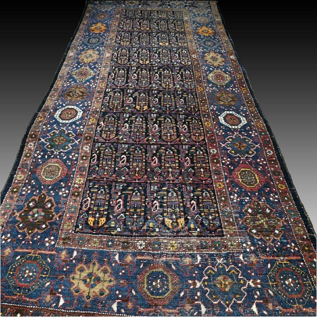 10.1x4.3 Antique Armenian boteh Kazak rug - 1880s - - 2