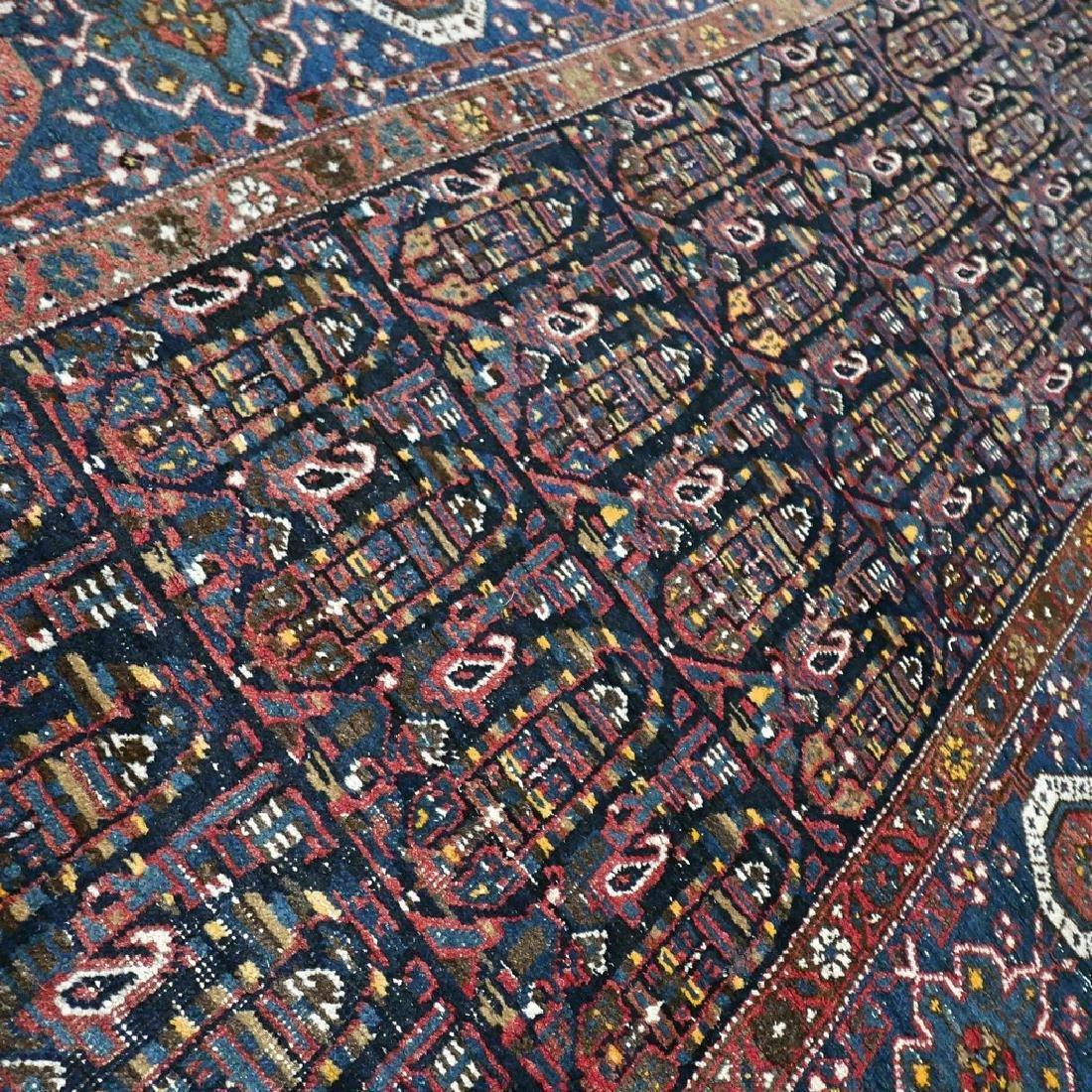 10.1x4.3 Antique Armenian boteh Kazak rug - 1880s - - 5