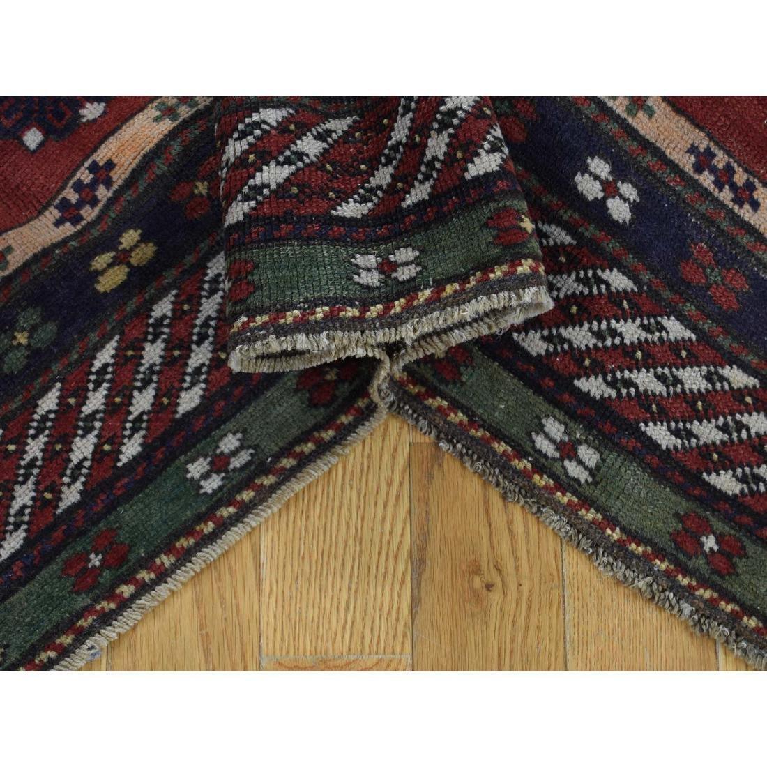 Antique Caucasian Kazak Good Condition Hand Knotted Rug - 6
