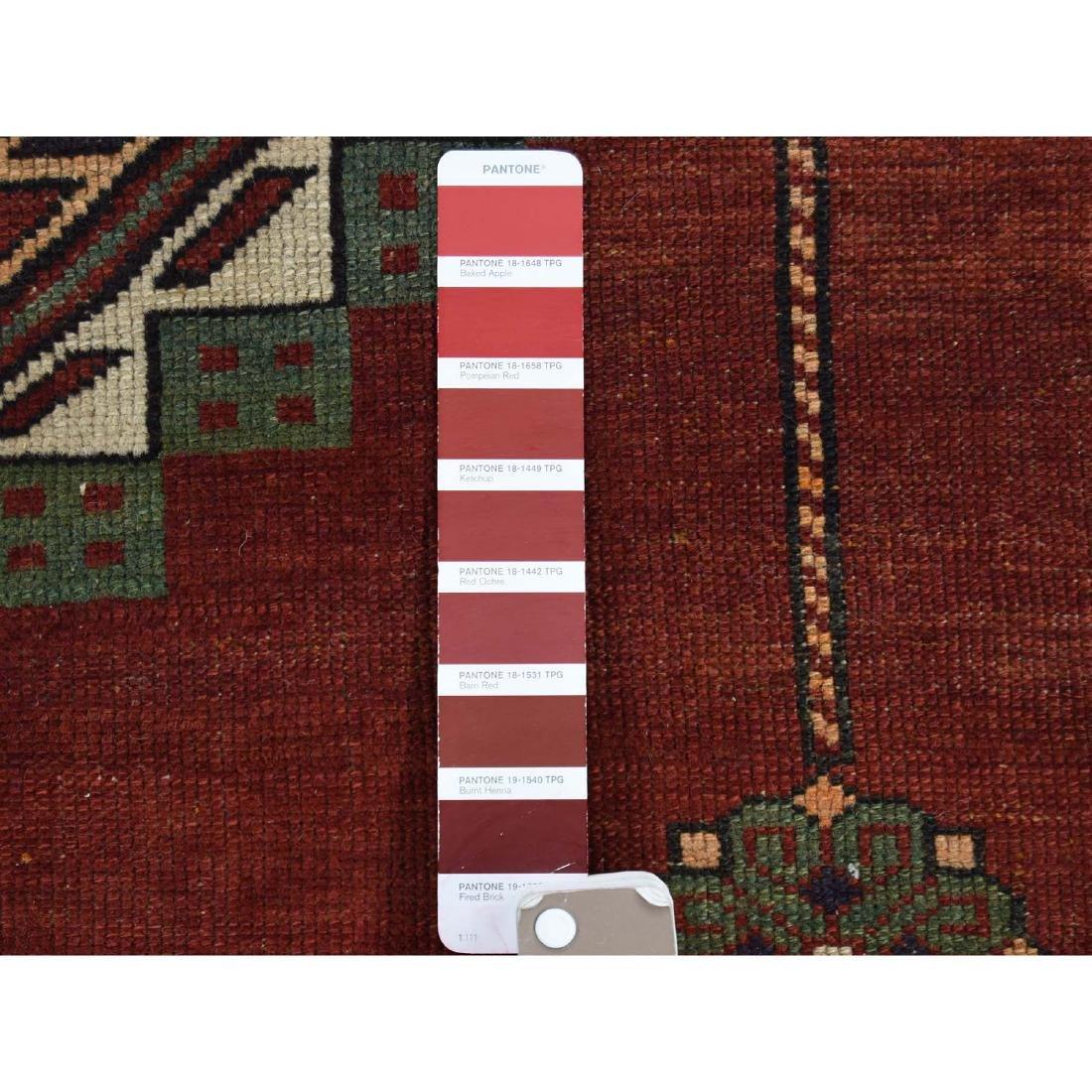 Antique Caucasian Kazak Good Condition Hand Knotted Rug - 8