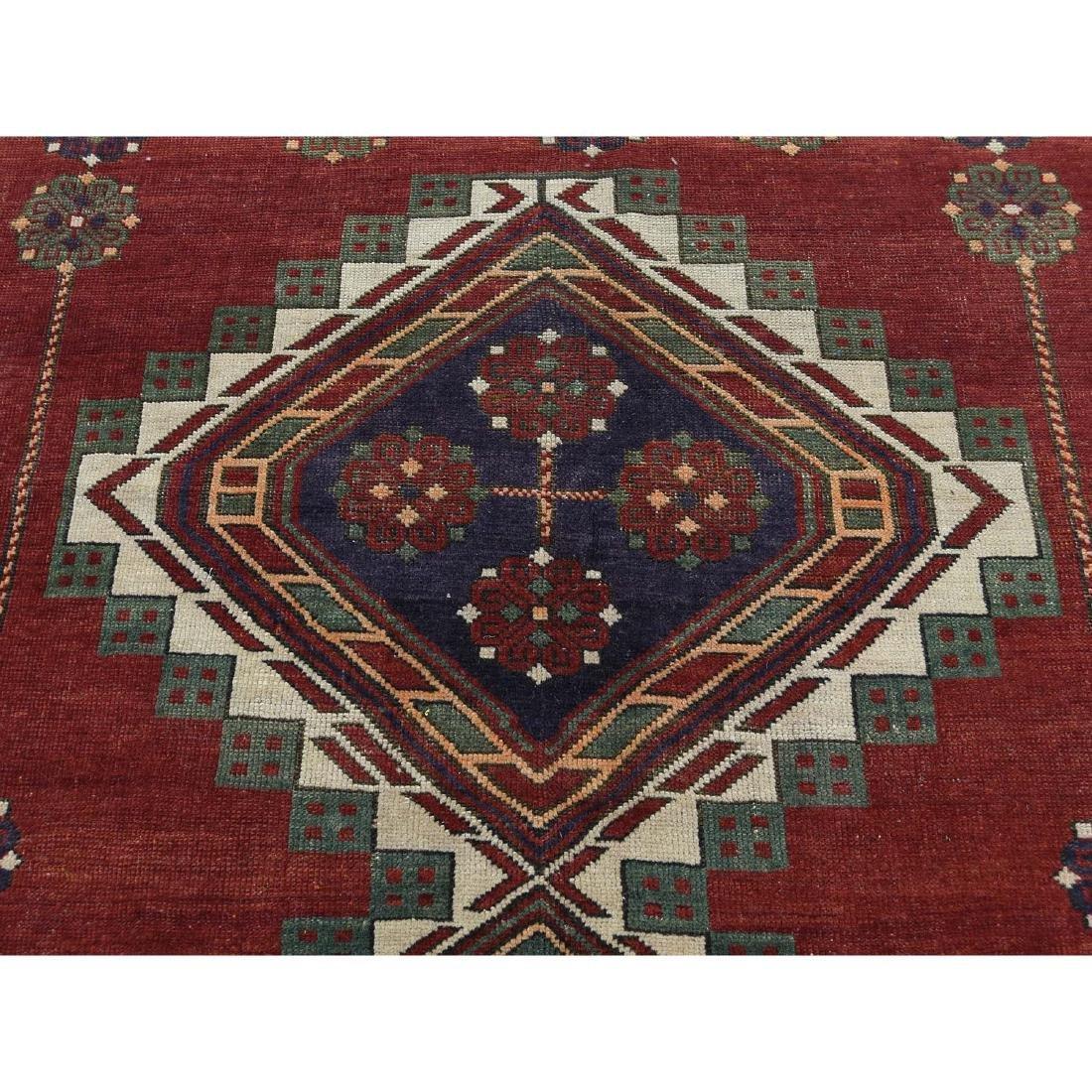 Antique Caucasian Kazak Good Condition Hand Knotted Rug - 9