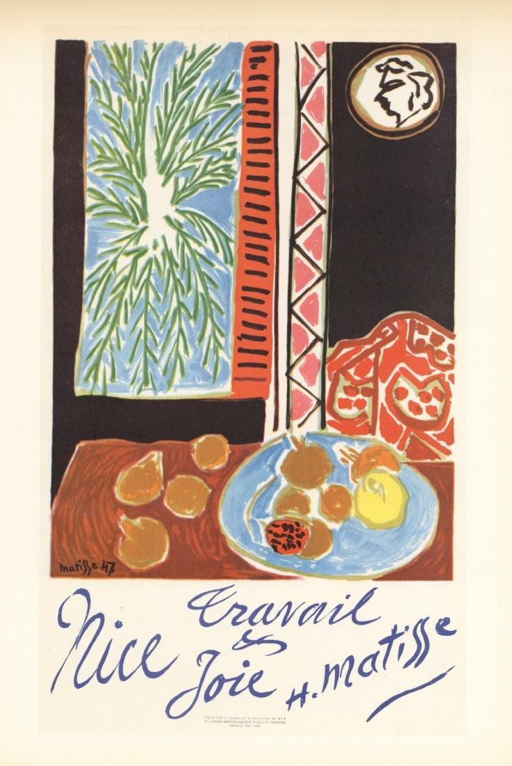 "Henri Matisse lithograph poster ""Travail et Joie"""