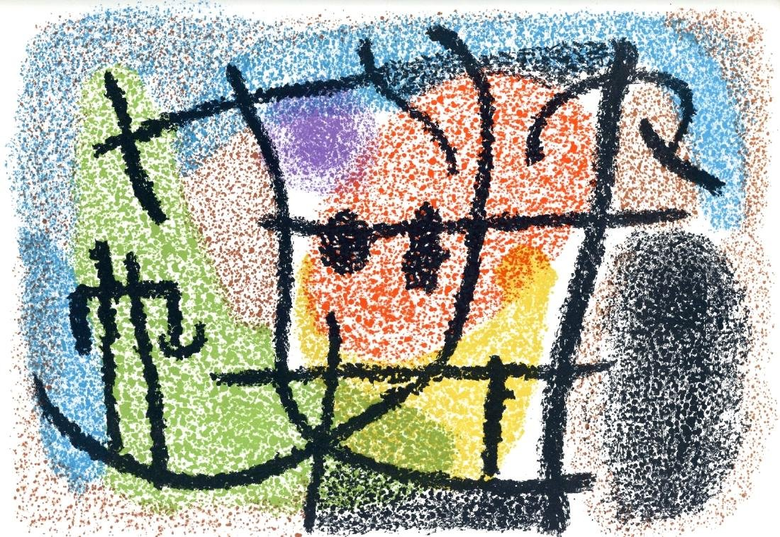 Joan Miro original lithograph for Cartones, 1965