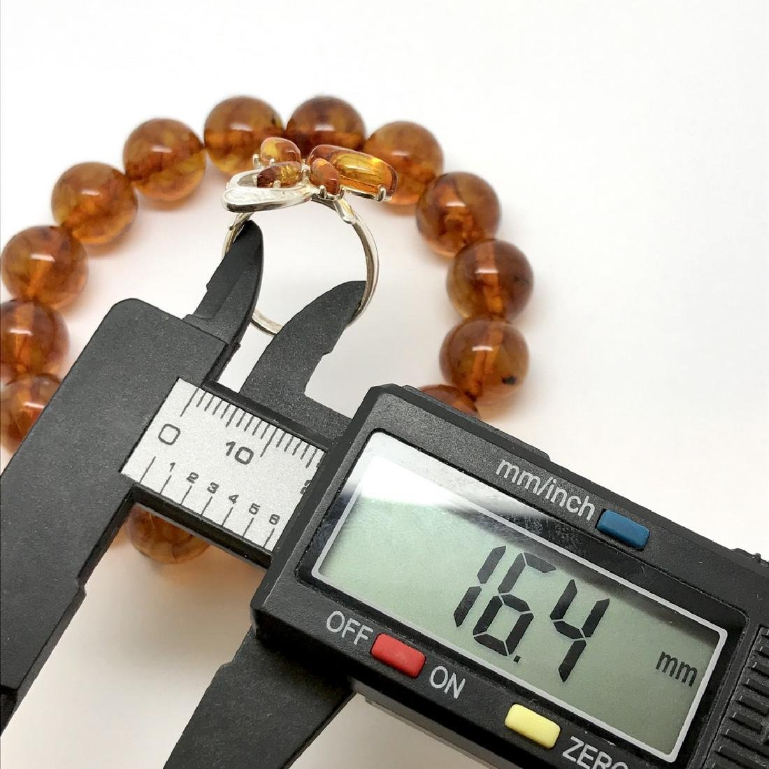 Bracelet & ring with Baltic amber Silver 925 - 7