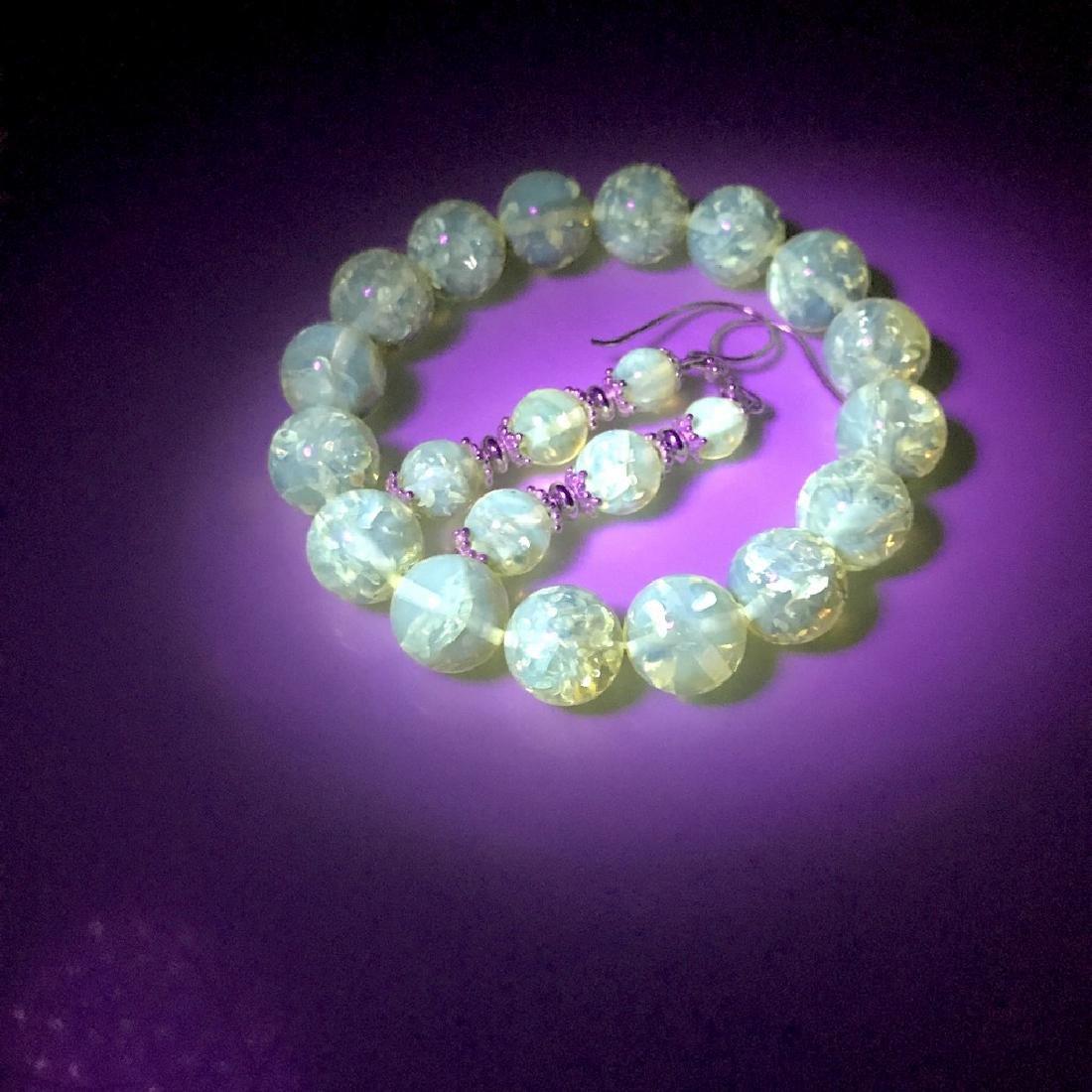 Baltic amber & sterling silver bracelet & earrings 19 - 10