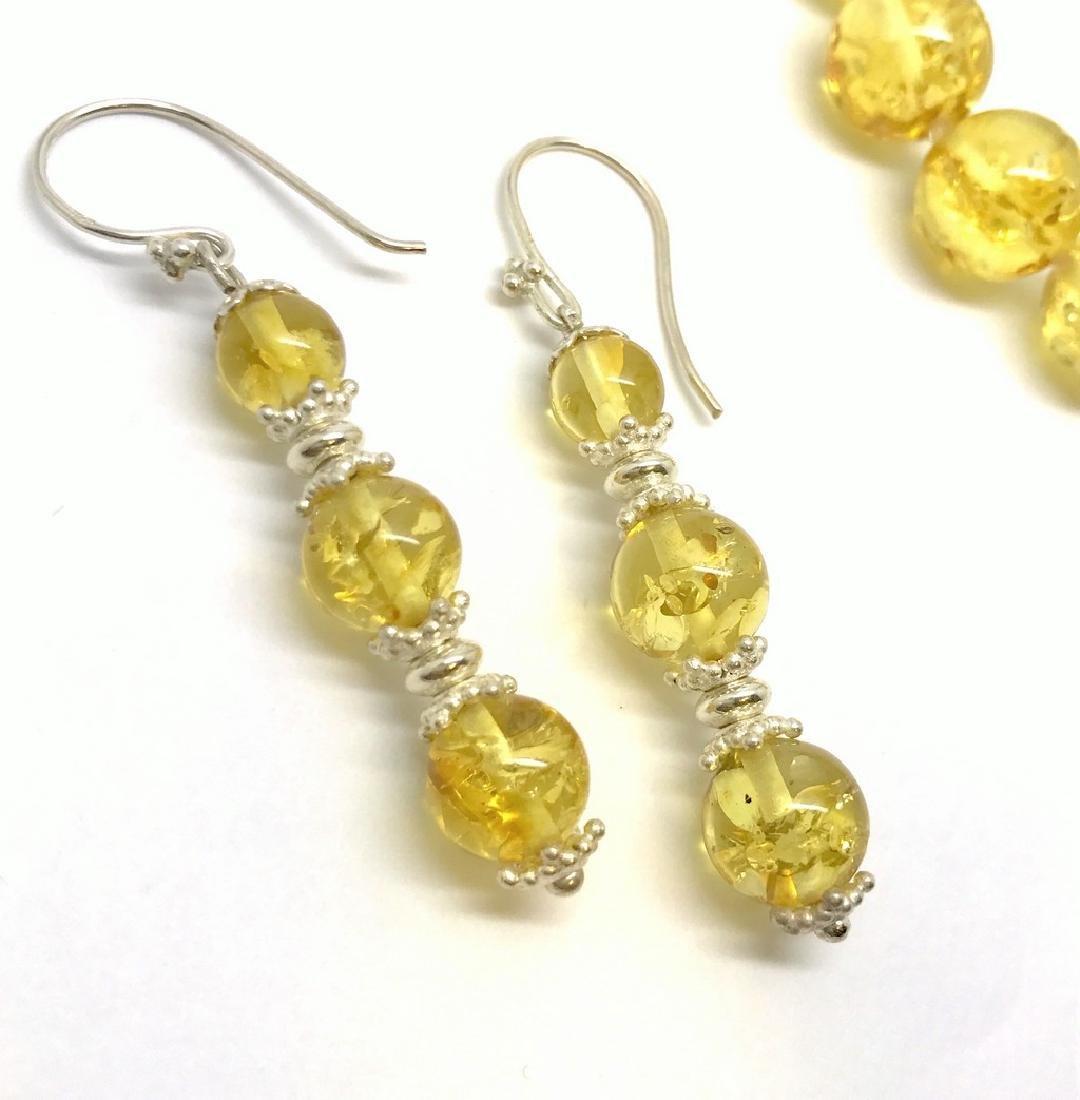 Baltic amber & sterling silver bracelet & earrings 19 - 4