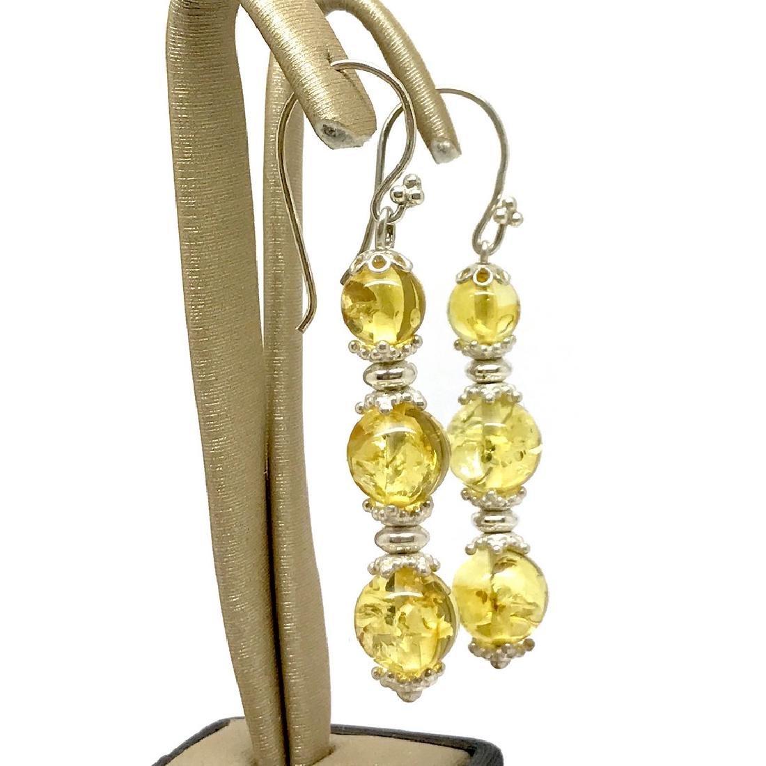 Baltic amber & sterling silver bracelet & earrings 19 - 7