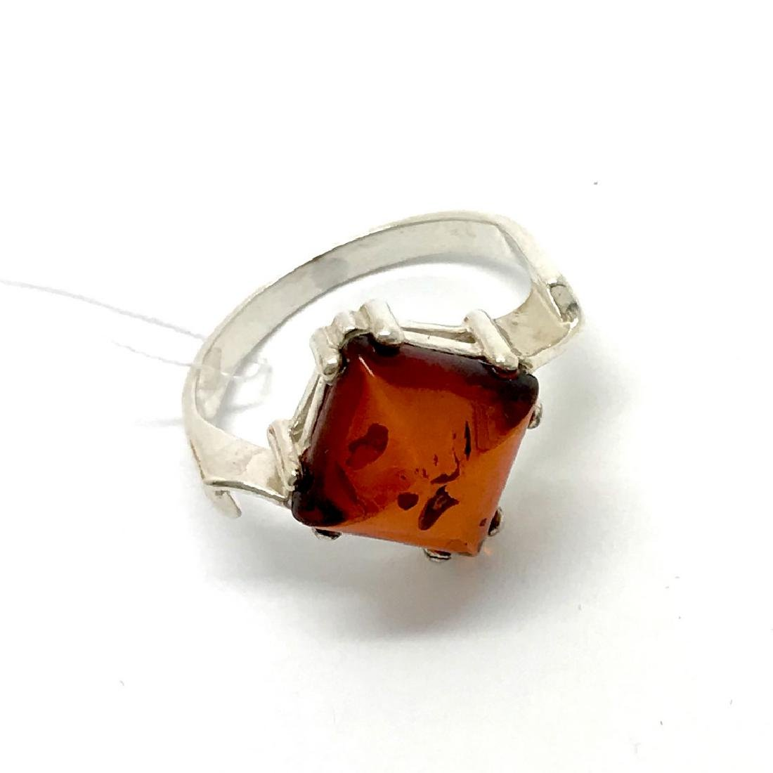Ring Baltic amber in sterling silver - 2