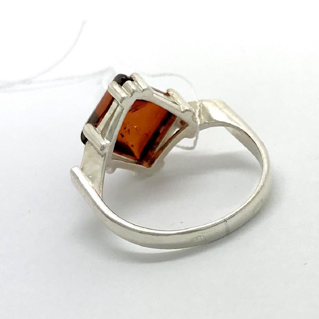 Ring Baltic amber in sterling silver - 3