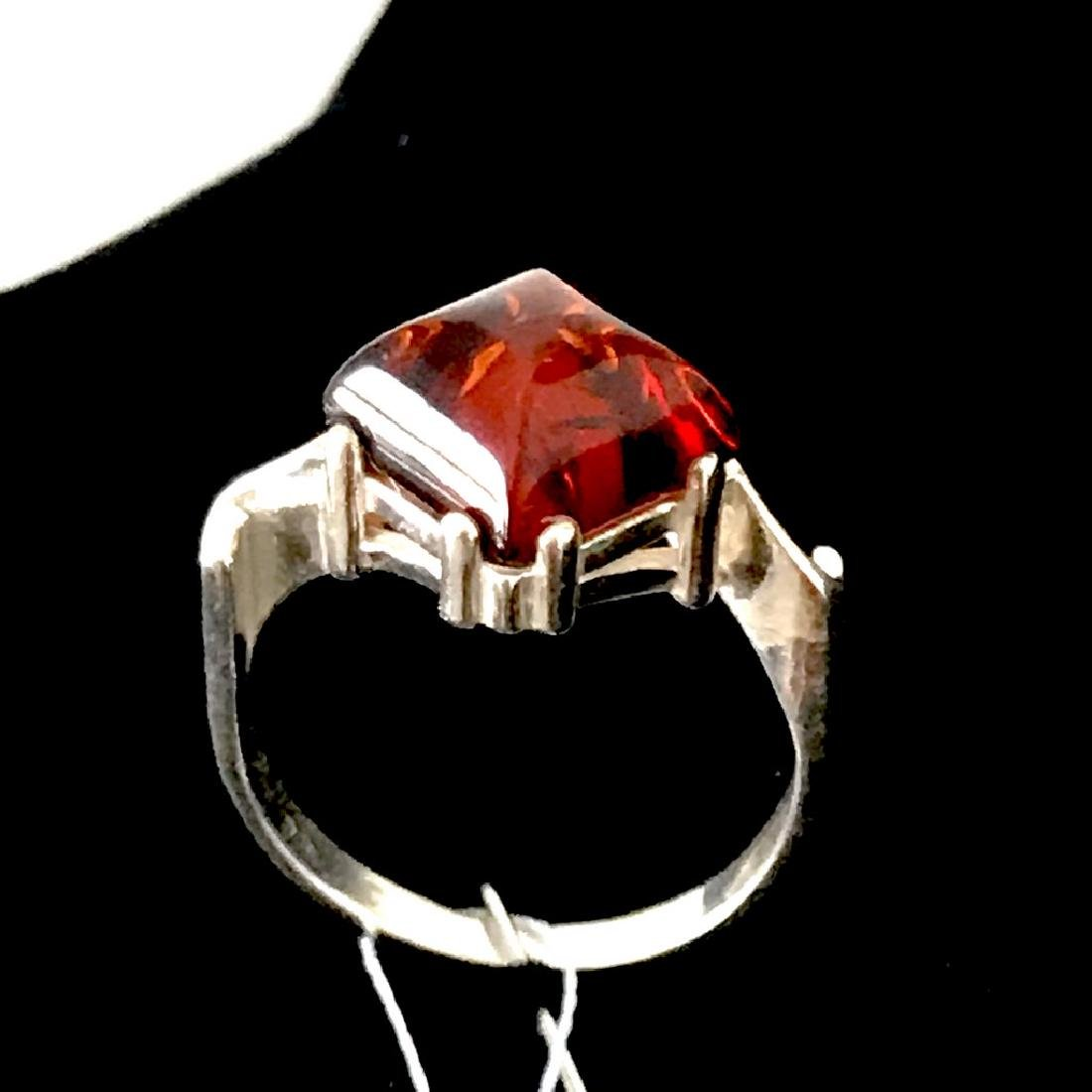Ring Baltic amber in sterling silver - 4