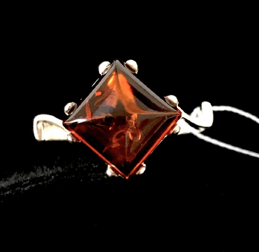 Ring Baltic amber in sterling silver - 8