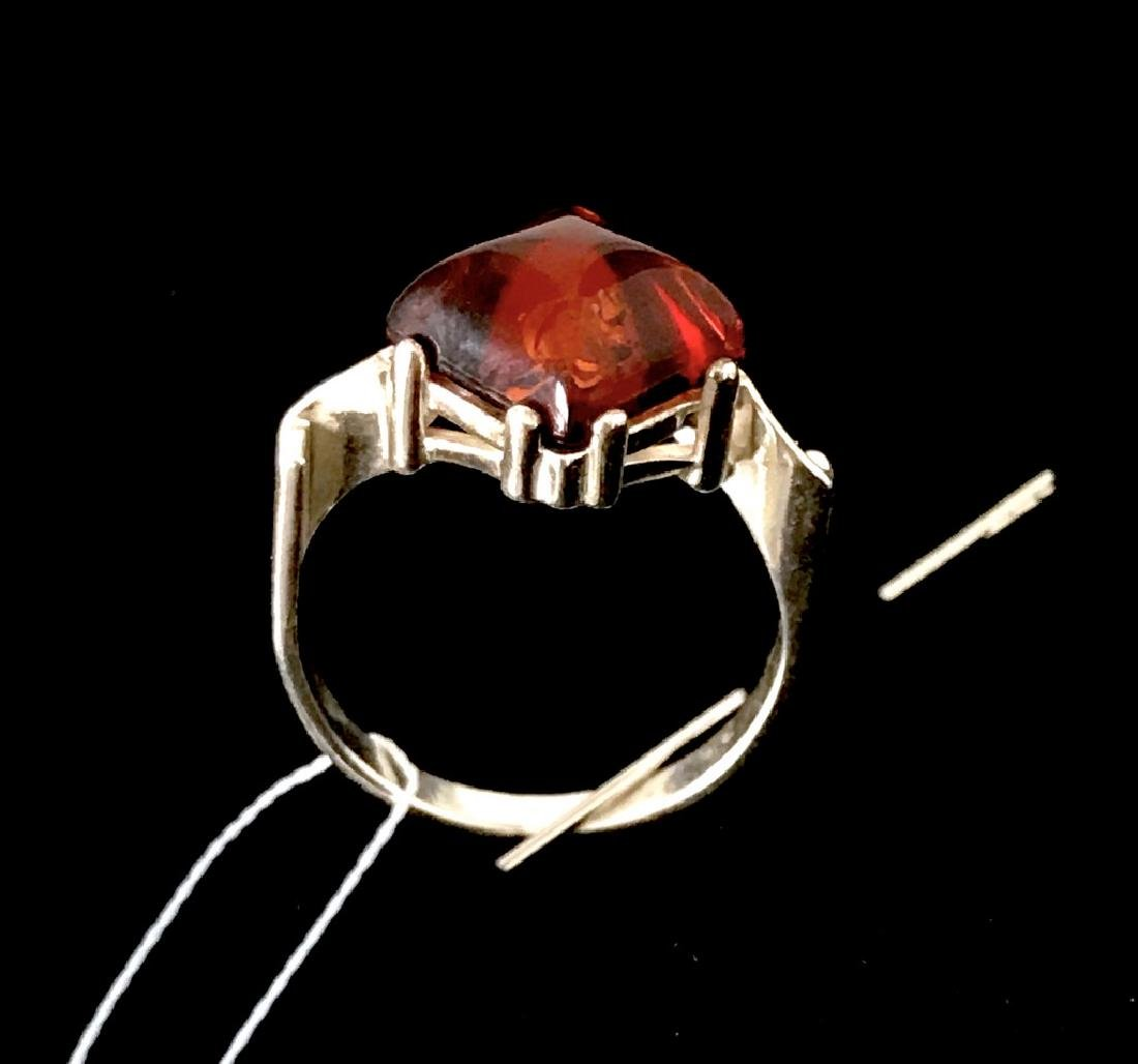 Ring Baltic amber in sterling silver - 9