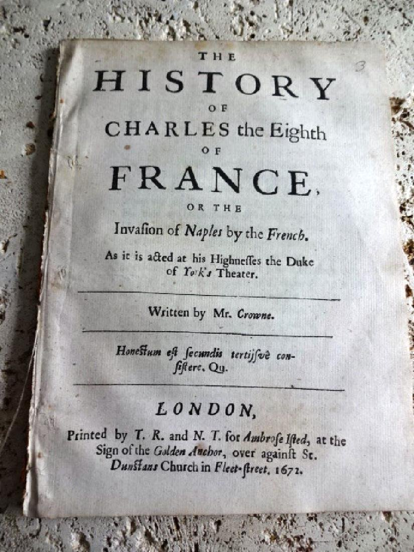 1672 Play History of Charles the Eighth of France