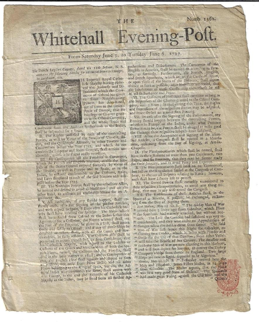 1727 Whitehall Evening Post