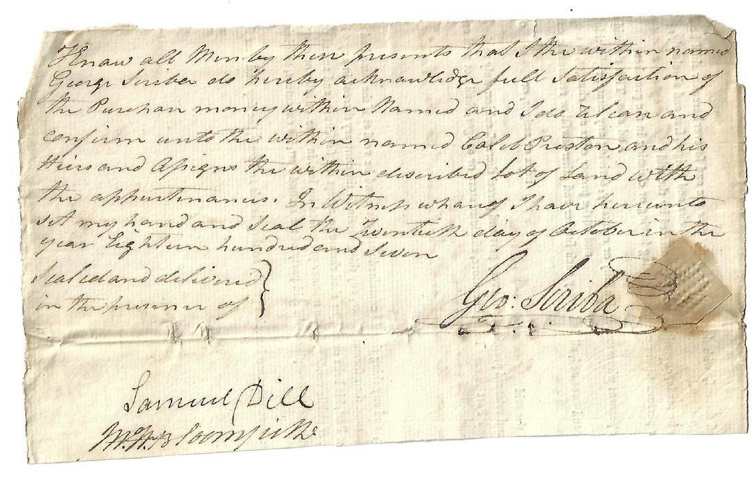 1807 Manuscript New York Legal Document Signed