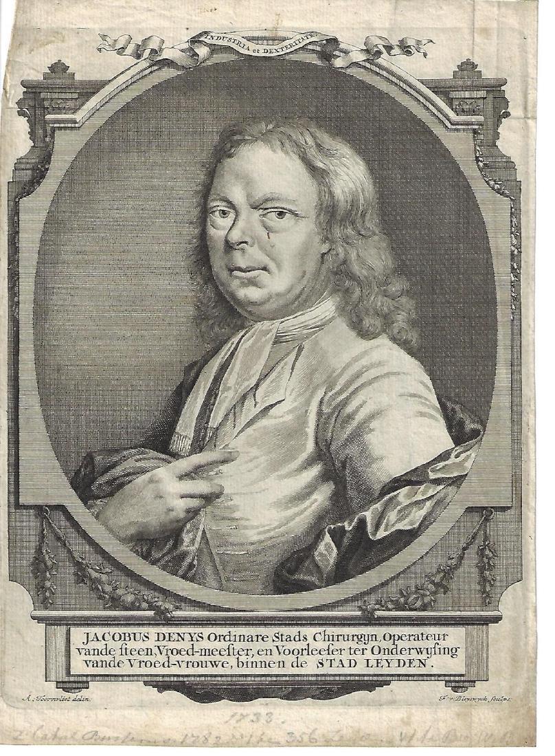 1733 Engraving Jacobus Denys Surgeon